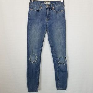 Free People | Ripped Knees Stretch High Rise Jean
